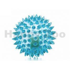 Hračka JK guma TPR - LED míček s bodlinami modrý 6,5cm