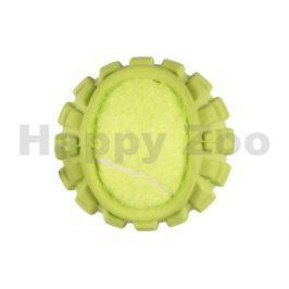 Hračka FLAMINGO guma - míč s tenisákem zelený 5,5cm
