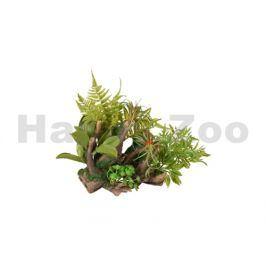 Akvarijní dekorace FLAMINGO - Dio kořeny s rostlinami 36x31x33cm