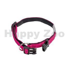 Obojek NOBBY Soft Grip nylonový růžový 2x30-45cm