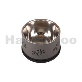 Nerezová miska FLAMINGO Fusion pro psy s dlouhýma ušima šedá 15c
