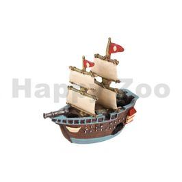 Akvarijní dekorace FLAMINGO - Ropa vrak lodi pirátské 18x7x17cm