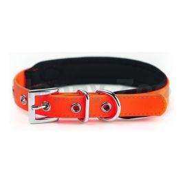 Obojek NOBBY Cover PVC oranžový (S) 30-40cm