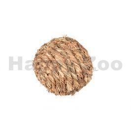 Hračka pro hlodavce FLAMINGO - míček z trávy s rolníčkou 12cm