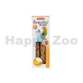 Tyčinky ZOLUX Crunchy Sticks Parakeet proso/banán (2ks)