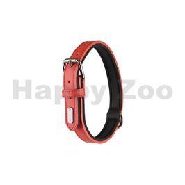 Obojek FLAMINGO Rinti kožený červený 1,5x24-30cm