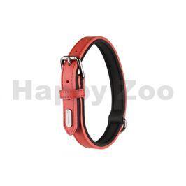 Obojek FLAMINGO Rinti kožený červený 3x47-57cm