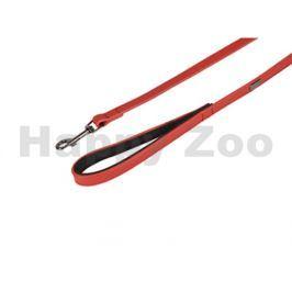 Vodítko FLAMINGO Rinti kožené červené 1,5x100cm