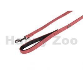 Vodítko FLAMINGO Delu z umělé kůže červené 1,5x100cm