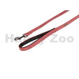 Vodítko FLAMINGO Delu z umělé kůže červené 2,5x100cm
