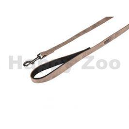 Vodítko FLAMINGO Delu z umělé kůže béžové 1,5x100cm
