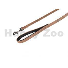 Vodítko FLAMINGO Delu z umělé kůže hnědé 2x100cm
