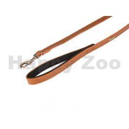 Vodítko FLAMINGO Lyabo z umělé kůže koňakové 2x100cm