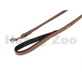 Vodítko FLAMINGO Lyabo z umělé kůže hnědé 2x100cm