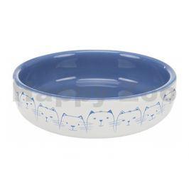 Keramická miska TRIXIE modrá pro krátkonosé kočky 11cm (300ml)
