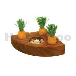 Hračka pro hlodavce ROSEWOOD - držák na pamlsky s mrkvičkami 10x