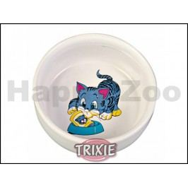 Miska keramická TRIXIE malovaná pro kočky 300ml (11cm)