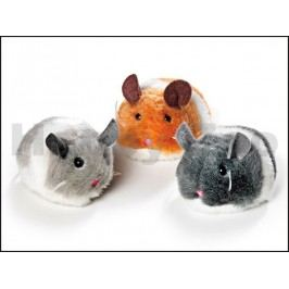 Hračka pro kočky KARLIE-FLAMINGO - plyšová natahovací myš Jerry
