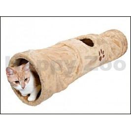 Plyšový tunel pro kočky TRIXIE béžový 25x125cm