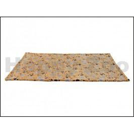 Fleecová deka TRIXIE Laslo 75x50cm - béžová s tlapkami