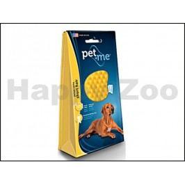 Silikonový kartáč PET AND ME na psy na krátkou srst (žlutý)