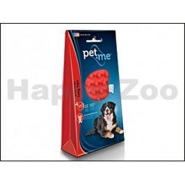 Silikonový kartáč PET AND ME na psy na dlouhou srst (červený)