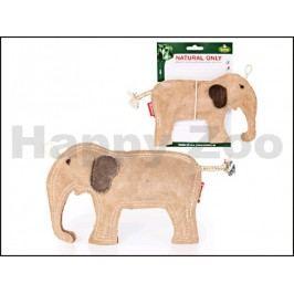 Hračka TOMMI Natural Only kůže - slon 21x14cm