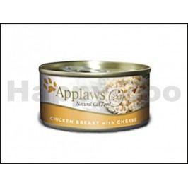 Konzerva APPLAWS Cat - kuřecí prsa a sýr 156g