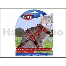 Postroj s vodítkem pro kočku TRIXIE s motivem sedící kočky 27-46