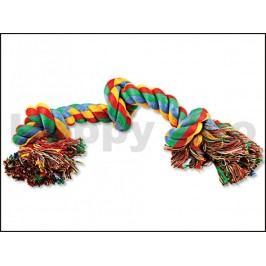 Hračka DOG FANTASY bavlna - uzel barevný 40cm (3 uzle)