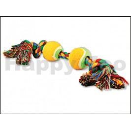 Hračka DOG FANTASY bavlna - dva uzle a dva tenisáky 35cm