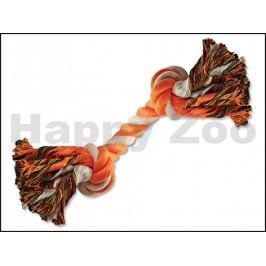 Hračka DOG FANTASY bavlna - uzel oranžovo-bílý 20cm (2 uzle)