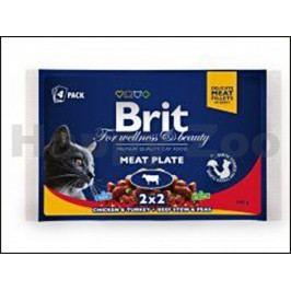 Multipack kapsička BRIT Premium Meat Plate (4x100g)