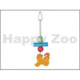 Hračka pro ptáky TOMMI - kočka ze dřeva 13cm