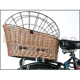Proutěný koš na kolo KARLIE-FLAMINGO s drátěnným krytím 57x33x43