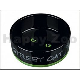 Keramická miska TRIXIE Street Cat černá s očima 0,3l (12cm) (MIX