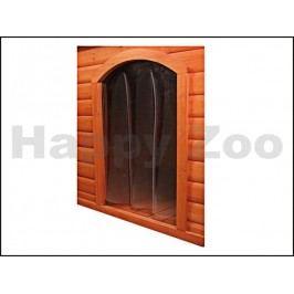Plastová dvířka k boudě pro psa TRIXIE se sedlovou střechou (L)
