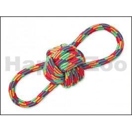 Hračka DOG FANTASY bavlna - osmička s uzlem 22cm