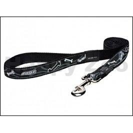 Vodítko ROGZ Fancy Dress HL 02 CB-Black Bones (XL) 2,5x120cm