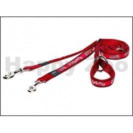 Vodítko přepínací ROGZ Fancy Dress HLM 12 CC-Red Bones (M) 1,6x1