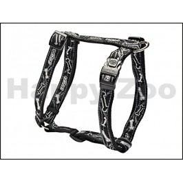 Postroj ROGZ Fancy Dress SJ 03 CB-Black Bones (L) 2x29-64x45-75c