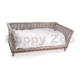 Proutěné kanape TOMMI Provence 80x50x31cm