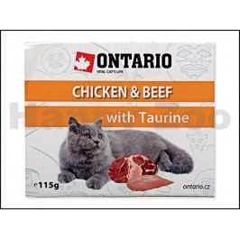Paštika ONTARIO Cat Chicken & Beef with Taurine 115g