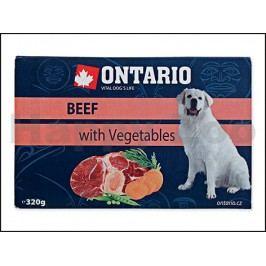 Paštika ONTARIO Dog Beef with Vegetables 320g