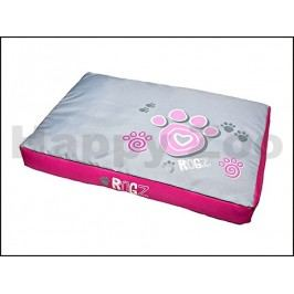 Matrace ROGZ Spice Pod - Pink Paws (M) 83x56x10cm