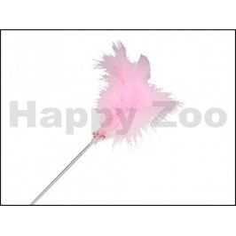 Hračka pro kočky O´LALA PETS - škádlítko plastové růžové č.5 (S)