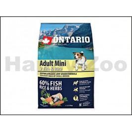ONTARIO Adult Mini 7 Fish & Rice 2,25kg