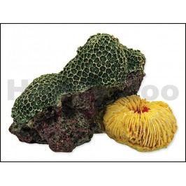 Dekorace AQUA EXCELLENT - mořský korál zelenožlutý 12,5x9,5x7,6c