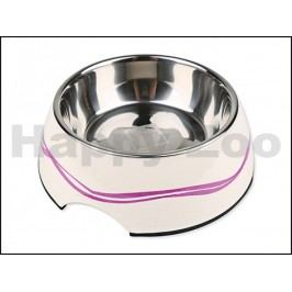 Nerezová miska s plastovým okrajem DOG FANTASY kulatá - purpurov