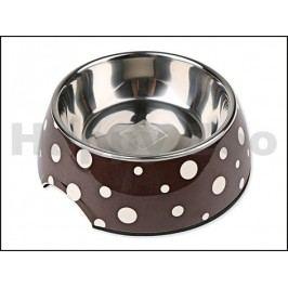 Nerezová miska s plastovým okrajem DOG FANTASY kulatá - bílé pun